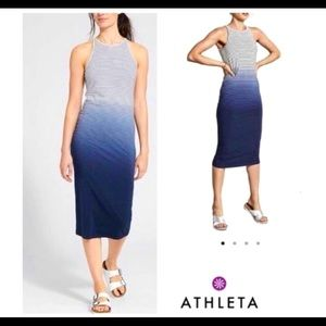 Athleta Ombré Striped Maxi Tank Dress